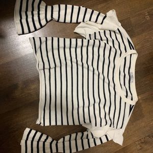 Zara blue and white sweater